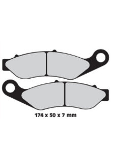 brake pad Front Sintered: for 14-17 FLHTCUTG 15-17 FLRT
