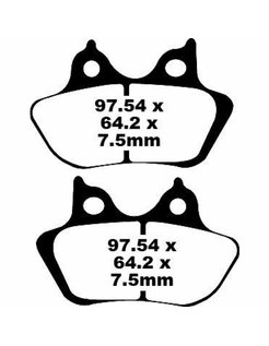 brake pad Semi-Sintered: 00-07 Touring, 00-07 Softail (except Springer), 00-07 Dyna, 00-03 XL Sportster