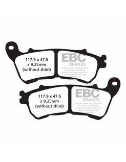 brake pad Semi-Sintered: Fits:> 14-17 XL 883/1200 All Sportster