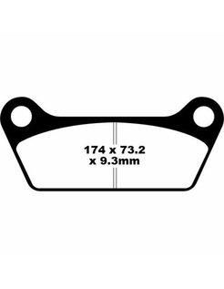 Rear brake pad Semi-Sintered: Fits:> 84-85 All Models FL