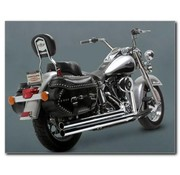Vance and Hines exhaust big shots long Softail - Fits:> 86-11 FXST FXSTC FXSTB FXSTD FXSTS FLSTF FLSTN