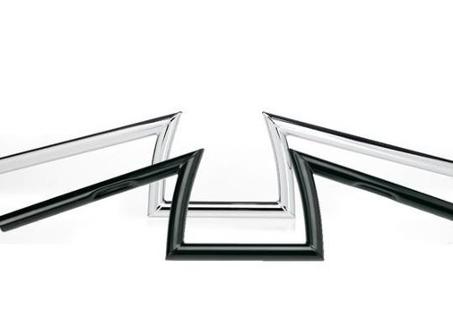 Biltwell guidon Keystone - Noir / Chrome 5 pouces hausse