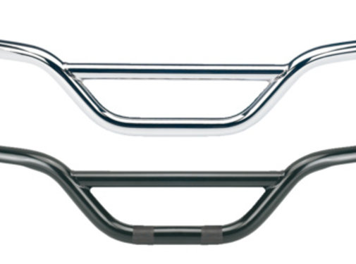Biltwell Moto handlebar - dimpled black or chrome Fits:> 82-17 H-D (exclude. e-throttle; 88-11Springers)