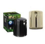 Hiflo-Filtro Filtro de aceite de alto flujo - Negro o cromado, Para:> 84-90 FLT, 84-94 FXR, 84-99 Softail, 86-17 XL, 09-12 XR 1200