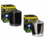 Hiflo-Filtro Hochstrom-Ölfilter mit Obermutter - Schwarz oder Chrom, Passend für:> 84-90 FLT, 84-94 FXR, 84-99 Softail, 86-17 XL, 09-12 XR 1200