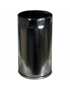 High flow oil filter - chrome, Fits:> 91-98 Dyna Glide