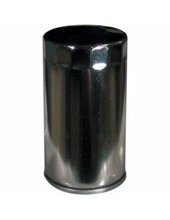 Hoge stroom oliefilter - chroom, Voor:> 91-98 Dyna Glide