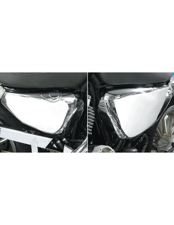 Sidecovers, Battery and Oil Tank Cover, Chrome, Fits: Sportster XL 04-13