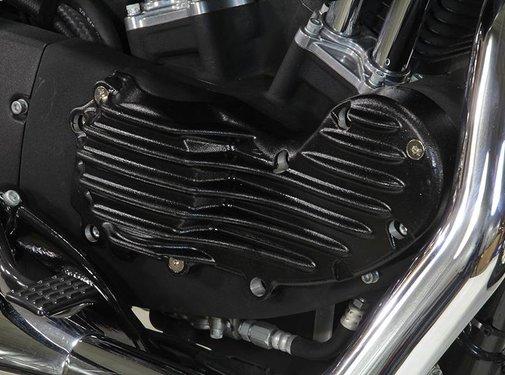 Wyatt Gatling Engine  Aluminum ribeye style cam cover trim with black finish mounts Fits:> XL 1991-2015