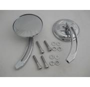 Wyatt Gatling mirror Air Flow Mirror Set with Curved Billet Stems