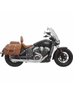 Exhaust System Road Rage 2-Into-1 With Short Change Megaphone Muffler Chrome for 15-16 Indian Scout