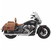 Bassani Exhaust System Road Rage 2-Into-1 With Long Change Megaphone Muffler Chrome - for 15-16 Indian Scout