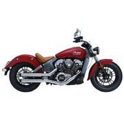 Crusher Maverick 2.5 inch slip mufflers 2 into 2 Chrome - for Indian Scout