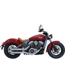 Maverick 2.5 inch slip mufflers 2 into 2 Chrome - for Indian Scout