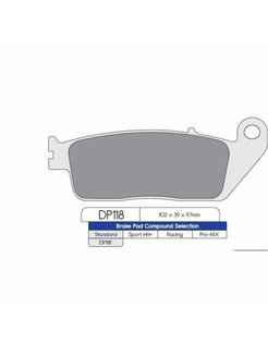 Brake pad set Rear – Indian