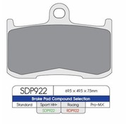 2HH brake pad SDP Sport HH+ high friction Street - Fits:> Indian