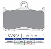 2HH plaquette de frein SDP Sport HH + rue de frottement élevé - Convient à  Indian ou