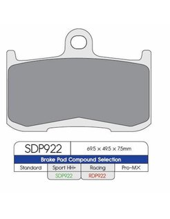 2HH brake pad SDP Sport HH+ high friction Street - Fits  Indian
