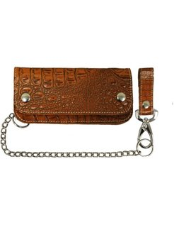 Accessories heavy leather - alligator brown