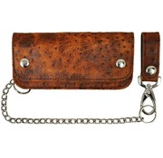 La Rosa Accessories heavy leather - brown ostrich