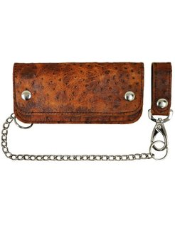 Accessories heavy leather - brown ostrich