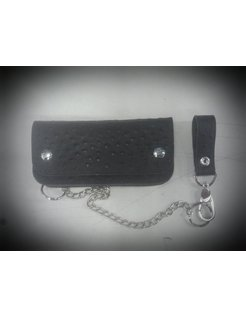 Accessories heavy leather - black ostrich