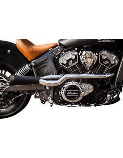 exhaust 2 into 1 System Chrome / black Ceramic-Coated for Indian Scout