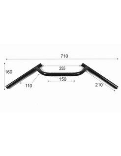 "1"" Handlebars M-Style handlebars, 70 cm wide  Black or Chrome"