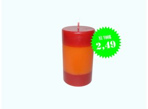 Sierkaars DuoColor Red-Orange Ø 6x10,5 cm