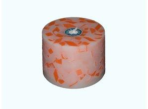Handmade Grote Tuinkaars Mozaïek Oranje-Fluor XL Ø 18x12 cm