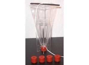 Siliconen afdekdopje voor kaarsenmal per 5 st.