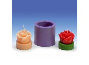 Siliconen kaarsenmal Theelicht Roos 35x37 mm - Kaarsen maken