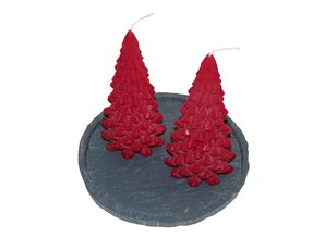 Kerstboom Kaars Rood - Christmas Tree Candle Red 20x10 cm