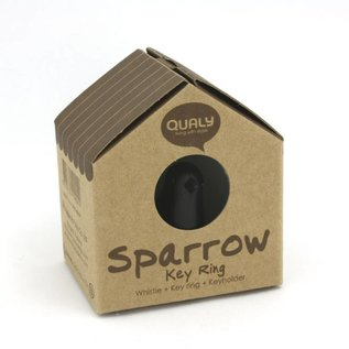 Qualy sparrow keyring wit/wit