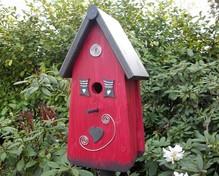 """Handgemaakte en handgeschilderde Vogelhuizen! Vogelhuis """"Eigen Huis"""""""
