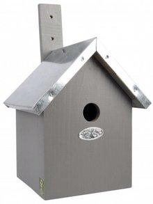 Moderne grijze Vogelhuisjes (zeer geschikt voor de pimpelmees, zwarte mees, kuifmees of een matkop)