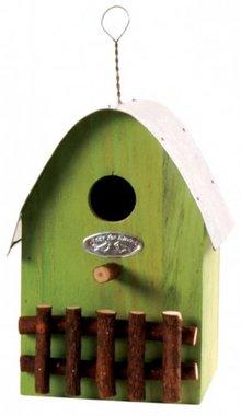 Design vogelhuisjes in de kleur groen