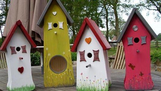 Handgemaakte Vogelhuizen kopen? Hier kunt u hand geschilderde en handgemaakte Vogelhuizen kopen!