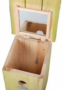 Observatie vogelhuisjes met spiegel