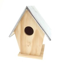 Goedkope Vogelhuisje met zinken dak (afmeting 155 x 115 x 193 mm)