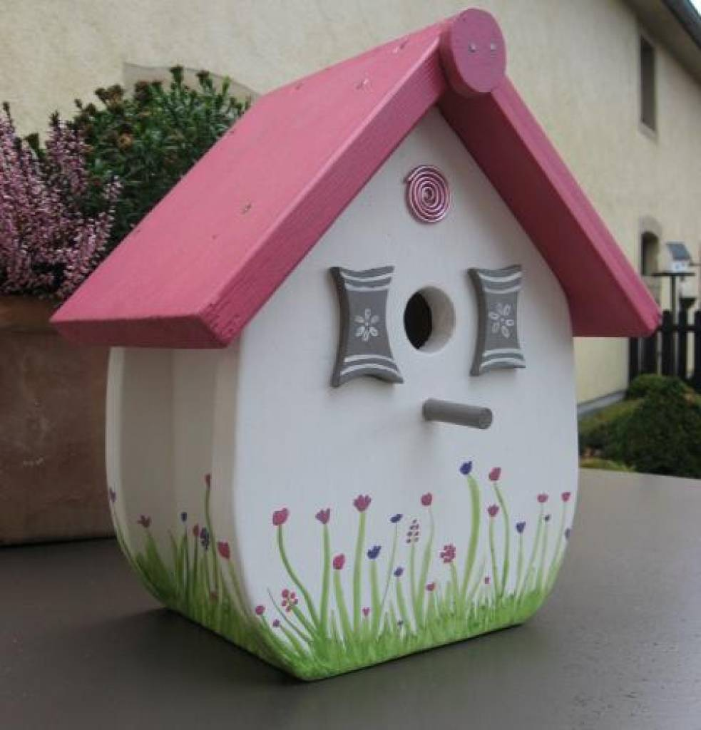 handgemaakte en handgeschilderde vogelhuizen birdhouse so sweet handgemaaakt und von hand. Black Bedroom Furniture Sets. Home Design Ideas