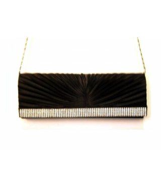 Black Evening Bag Strass