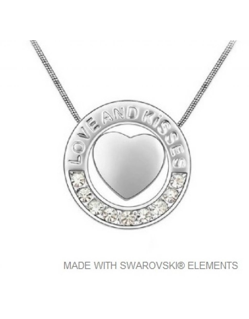 Cirkel Hart Hanger met Swarovski Elements en Ketting