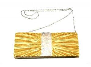Gold Evening Bag I-Strass