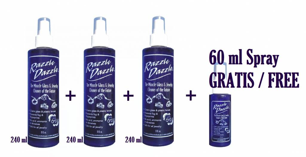 razzle dazzle jewelry cleaner and protector 3 x 240 ml