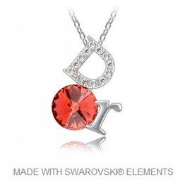 Hanger DOR met Swarovski Elements en Ketting
