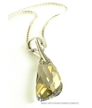 "Bijou Gio Design™ Zilveren Ketting met Swarovski Elements Wing ""Silver Shade"""