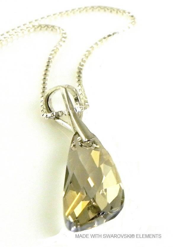 "Zilveren Ketting met Swarovski Elements Wing ""Silver Shade"""