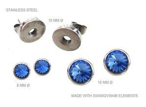 Ohrringe aus Edelstahl mit herausnehmbaren Swarovski Steinen - Copy