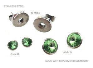 Ohrringe aus Edelstahl mit herausnehmbaren Swarovski Steinen